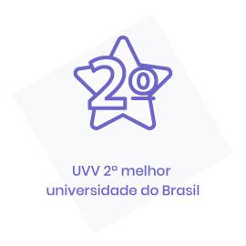 icone 2ª melhor universidade particular do Brasil